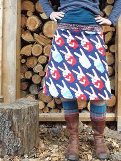 Skirt, Socks, Boots.....the lovely layers of fall.