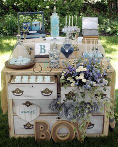 Shabby Chic Baby Shower | CatchMyParty.com