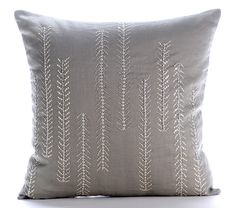 Designer Grey Decorative Cushion Covers 16x16 by TheHomeCentric