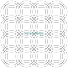 Coloring page template for Double Wedding Ring quilt