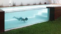 Party de cour piscine transparente