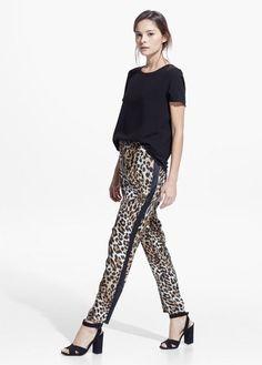 Pantalón fluido leopardo | MANGO