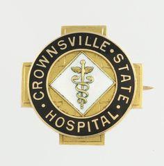 Crownsville State Hospital Nursing Badge c.1910 -14k Yellow Gold Lulu G.Wilkins