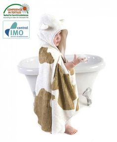 Cuddle Moo Baby Bath Towel - at last a towel for your toddler that is big, soft, warm, fun and gorgeous! Newborn Essentials List, Toddler Towels, Baby Wipe Warmer, Eco Kids, Capes For Kids, Baby Bathroom, Hooded Bath Towels, Baby Bath Time, Baby Bedding Sets