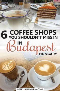 There are so many great cafes in Budapest, the capital of Hungary, that it can be difficult to decide which ones to visit. We share six of our favourite coffee shops in Budapest that you should visit on your next trip! Best Coffee Shop, Coffee Shops, Budapest Travel, Prague Travel, Travel Europe, European Travel, Coffee Around The World, Capital Of Hungary, Hungary Travel