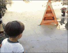 a Kid and a puddle. 21 Best GIFs of All Time of the Week from best GOAT