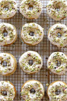 Baked Brown Butter Pistachio Doughnuts / joy the baker