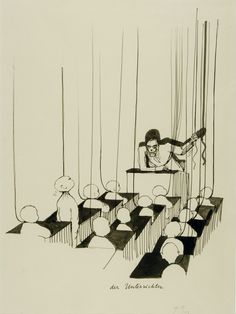 Der Unterrichter (The Teacher), 1980 by Tomi Ungerer on Curiator, the world's biggest collaborative art collection. The Drawing Center, Holding Court, Tv Movie, Indie Art, Digital Museum, Collaborative Art, Comic, Contemporary Artists, All In One