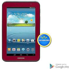 Samsung Galaxy Tab 2 Tablet with Memory -Garnet Red (Refurbished)