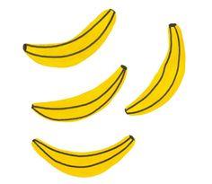 Creative Design, Print, and Pattern image ideas & inspiration on Designspiration Art And Illustration, Food Illustrations, Lightroom, Photoshop, Banana Art, Photocollage, Mellow Yellow, Simple Art, Surface Design