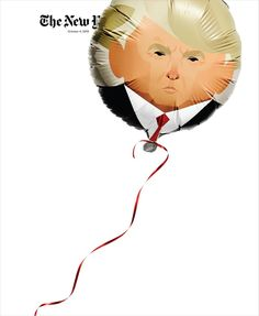 New York Times Magazine - Donald Trump - Gail Bichler, Design Director; Jason Sfetko, Deputy Design Director; Stanley Chow, Illustrator; Jamie Chung, Photographer