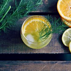 I would serve this with an Italian twist at one of our weddings in Italy; Fennel & Orange Cocktail: gin, vermouth, lemon juice, simple syrup, muddled fennel bulb, orange twist. by Bird & Cleaver. Love presentation