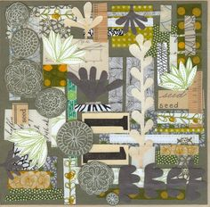 lovely doodly collage by Jennifer Judd McGee