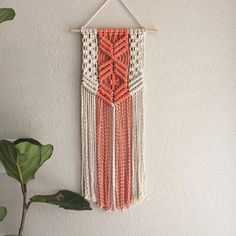 Macrame Wall Hanging/Tapestry/Weaving/Hand-Dyed by ReformFibers Mais