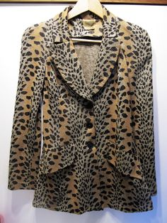 Biba Glittery a Leopard Jacket Biba Fashion, Retro Fashion, Vintage Fashion, Biba Clothing, Glitter Jacket, Leopard Jacket, Evolution Of Fashion, Animal Print Fashion, Everyday Fashion