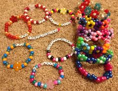 Flower cuffs and single bracelets for EDM festivals