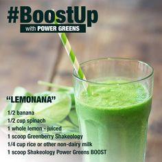 Greenberry Shakeology Lemonana Recipe Power Greens Boost