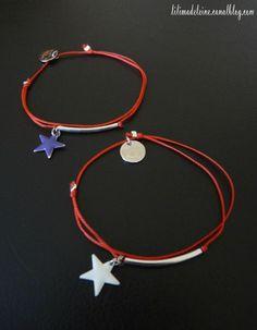 Bracelet à noeuds coulissants étoile