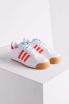 size 40 4b457 34ffb adidas Samoa Perforated Gum Sole Sneaker. Red SneakersLeather  SneakersSneakers AdidasAdidas OutfitAdidas Shoes ...