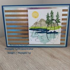 Stampin' Up Occasions 2018 using Waterfront stamp set - facebook.com\craftingblitz