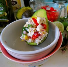 crab stuffed avocado a la sylvia plath