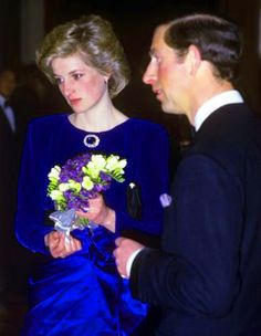 Princess Diana looking forlorn