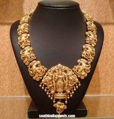 Latest Temple jewellery necklace 2015 frm NAJ