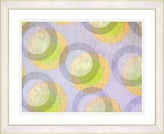 Circle Series - Bubblegum by Zhee Singer Framed Fine Art Giclee Painting Print