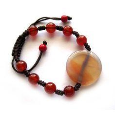 Red Agate Gem Tibet Buddhist Prayer Beads Mala Bracelet   eBay $5