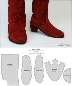 Кукла Тильда. Всё о Тильде, выкройки, мастер-классы. Diy Clothes Patterns, Doll Shoe Patterns, Plushie Patterns, Cowboy Boot Cake, Girl Cowboy Boots, Diy Barbie Clothes, Doll Clothes, Barbie E Ken, Shoe Chart