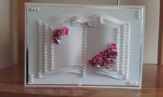 Used Crealies book dies Wedding Day Cards, Wedding Cards Handmade, Wedding Anniversary Cards, Book And Frame, Crafters Companion Cards, Cd Crafts, Card Book, Easel Cards, Mothers Day Cards