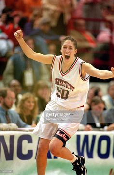 a5e54fe7a64e University of Connecticut Huskies star center Rebecca Lobo exults as her  team defeats the University of
