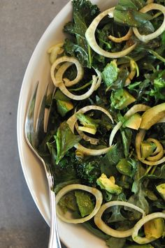 Green Detox Salad w/ Avocado & Fennel // Sacramento Street