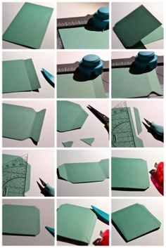 Library Pocket Tutorial with the Envelope Punch Board ~ how-to by Scrapping With Thamar