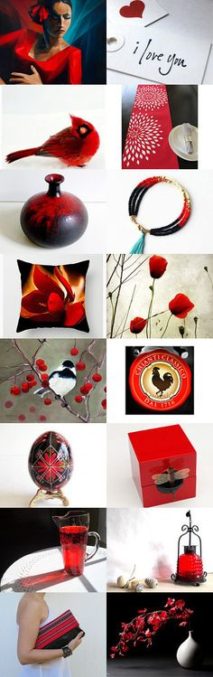 Flamenco Red by Linda Karen on Etsy--Pinned+with+TreasuryPin.com