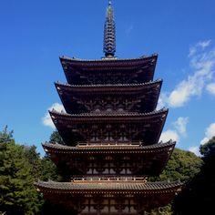 Five story pagoda of Daigo temple in Kyoto,JPN.