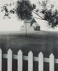 """Picket Fence I"" Color lithograph 1972"