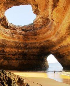 Sea cave in Portugal.