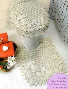 Crochê da Reh: Jogo de Banheiro