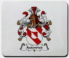 Autenried Family Shield / Coat of Arms Mouse Pad $11.99