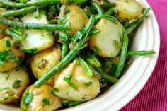 Warm new potato and green bean salad
