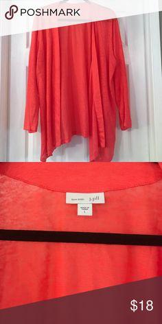 J. Jill cardigan Coral colored open cardigan J. Jill Sweaters Cardigans