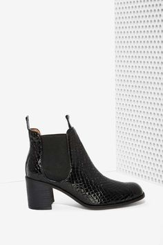 Jeffrey Campbell Soulard Patent Leather Boot - Boots Nasty Gal $195