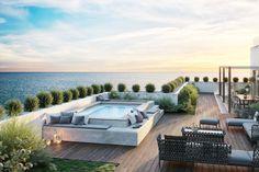 Spaspace è la piscina ideale per il tuo terrazzo. balcone, veranda & terrazza in stile moderno di aquazzura piscine moderno   homify