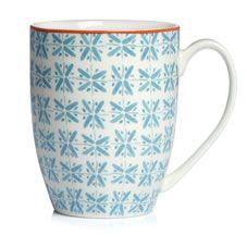 Wilko Morroccan Dash Design Mug Teal
