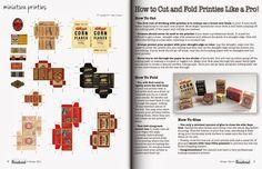New mini magazine: Creative Miniaturist   Vintage boxes for kitchen