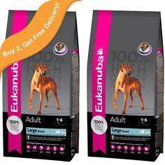 £24.00, Eukanuba Adult Large Breed Dog Food, 3kg x 2