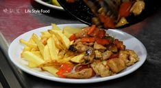 A quick and easy recipe for drunken chicken with vegetables and chicken breasts. You can serve the dish with french fries, rice and a chilled beer. Drunken Chicken, Kung Pao Chicken, Chilled Beer, White Mushrooms, Stuffed Mushrooms, Stuffed Peppers, French Fries, The Dish, Quick Easy Meals