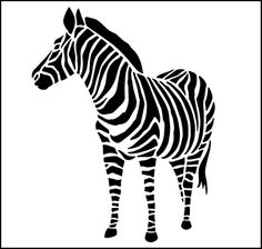 Zebra stencil from The Stencil Library GENERAL range. Buy stencils online. Stencil code 326.
