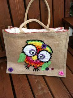 Shoppingbag with an owl for fun.